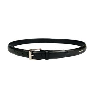 Polo Ralph Lauren Belt Leather Black Silver 38 ""
